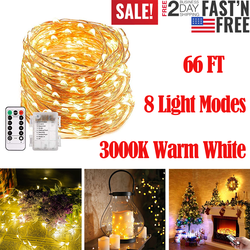 10M//20M50M 200 LED Christmas Tree Fairy String Party Lights Lamp Xmas Waterproof