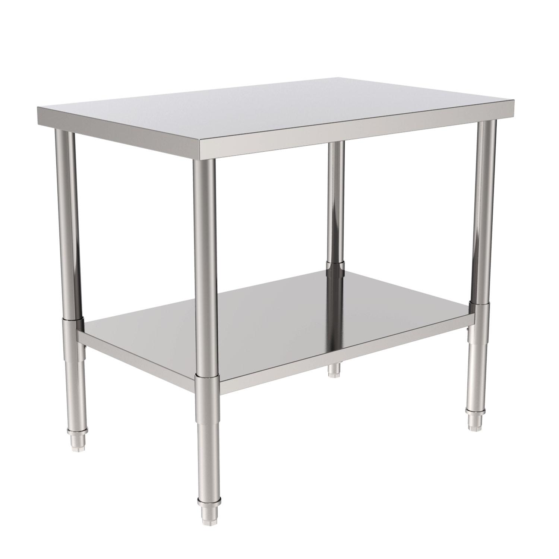 "36"" Stainless Steel Galvanized Work Table Kitchen Food ..."