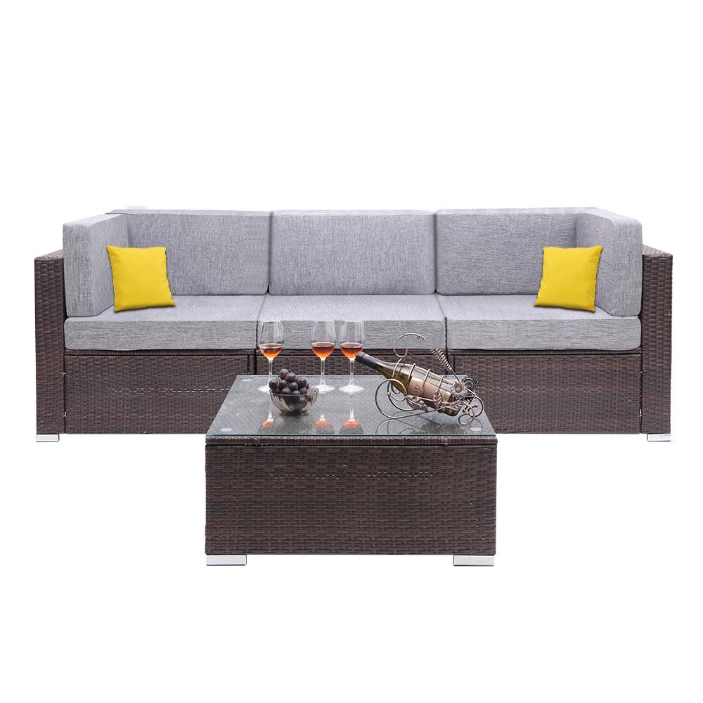 Pe Wicker Rattan Corner Sofa