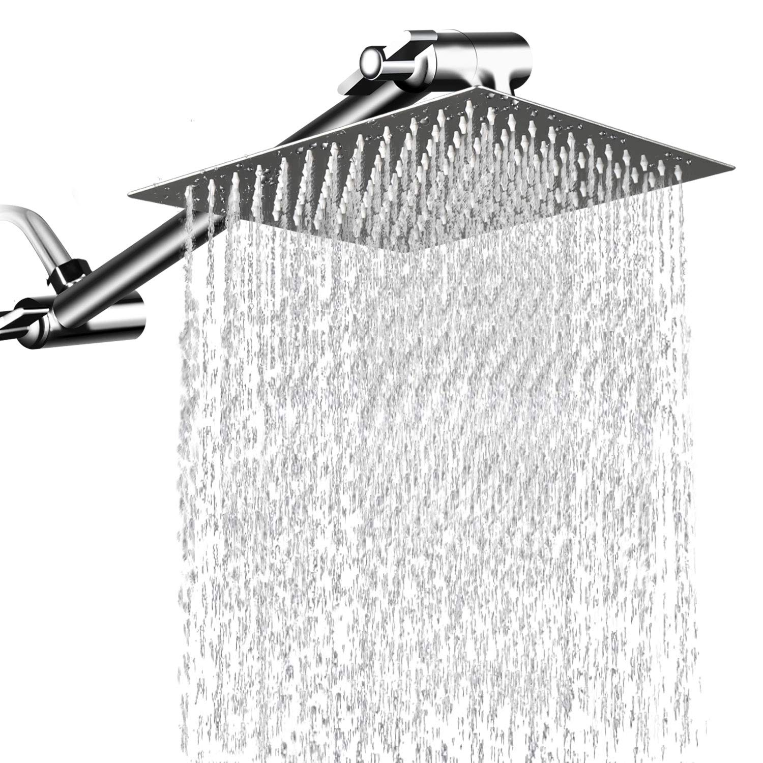 Details About 12 Inch Rain Shower Head With 11 Adjustable Extension Arm High Pressure Usa