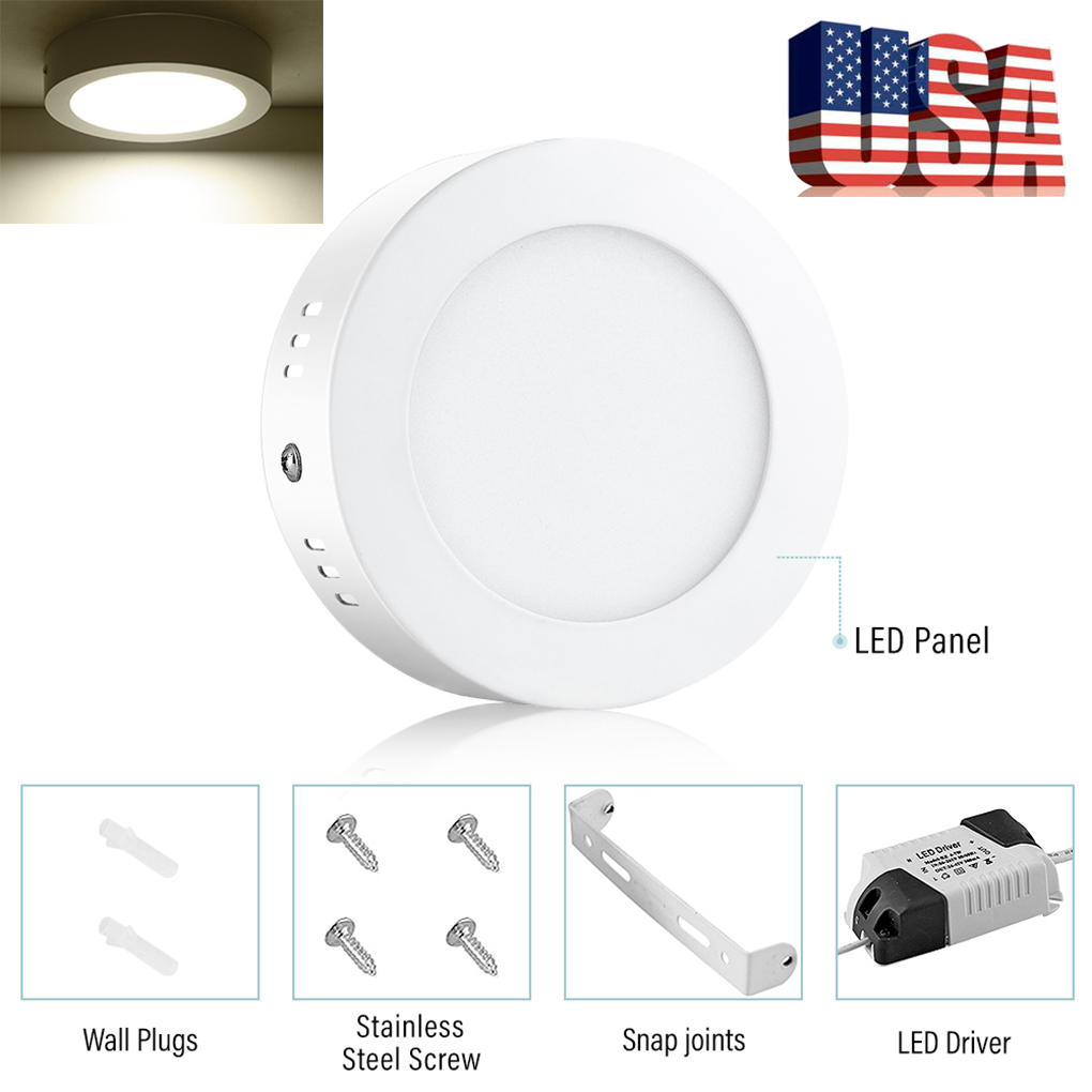 Details About 6w Ceiling Down Panel Lighting Led Light Surface Mounted White Bathroom Lamp